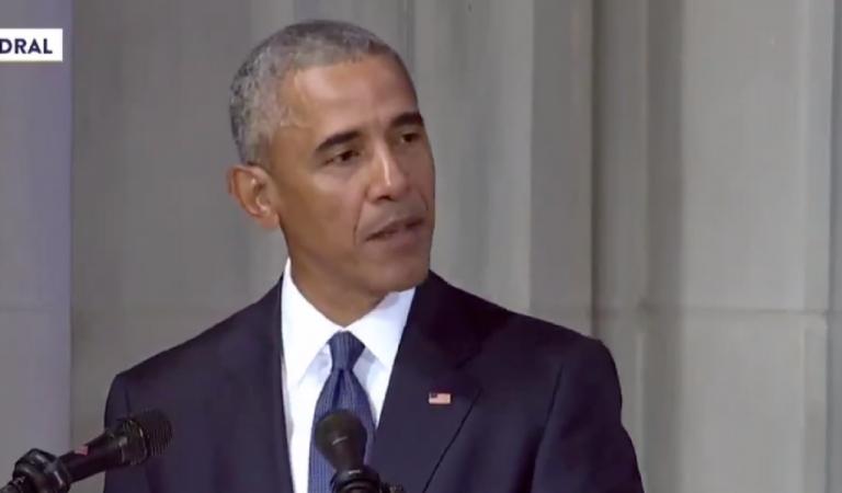 President Obama Takes The Podium At John McCain's Funeral, Makes Trump Pay For Disrespecting Senator
