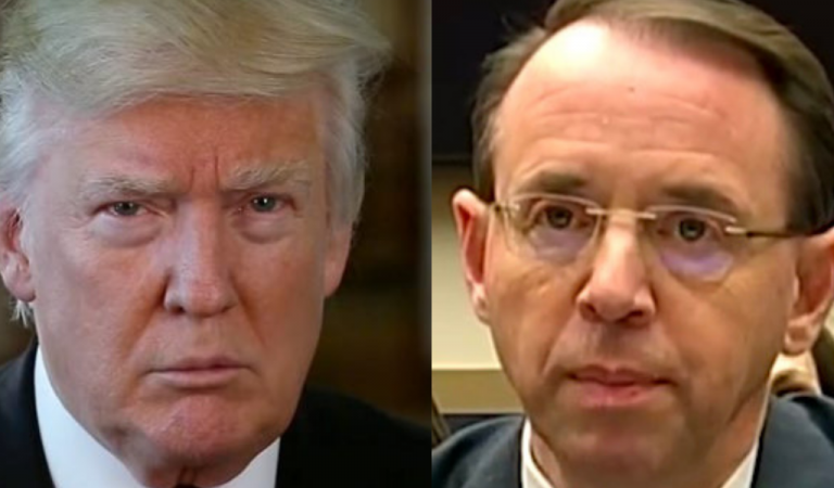 Trump Makes Major Announcement Regarding Rod Rosenstein's Future At The White House