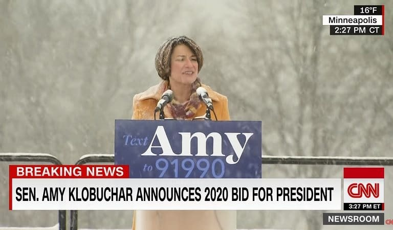 Trump Mocked Amy Klobuchar's Presidential Announcement In The Snow, Her Response Is EPIC