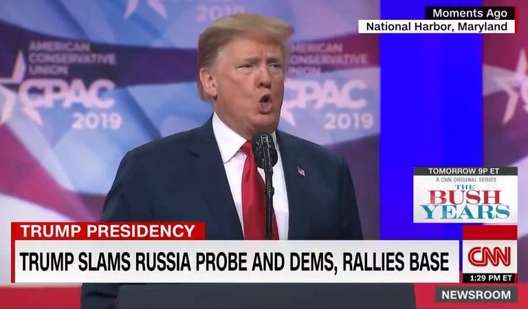 """Panicked Trump Gives Expletive-Laden Speech At CPAC, Says Mueller Is Trying To """"Take Him Out With Bullsh*t"""""""