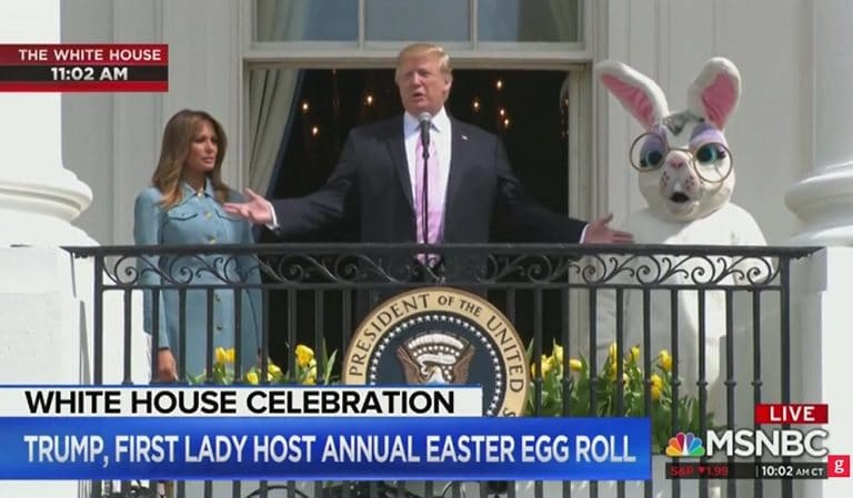 Watch Trump Deliver Ridiculous Speech To Children During Easter Celebration, Scares Everyone