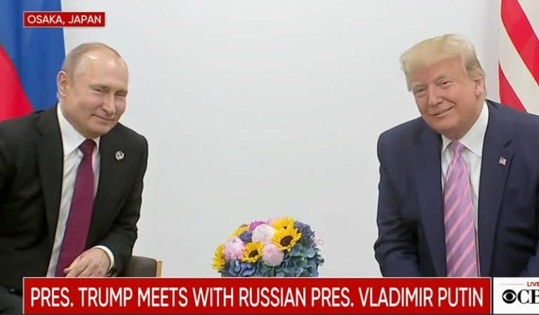 """Watch Trump Joke And Laugh With Putin At G20 Summit: """"Don't Meddle In The Election"""""""