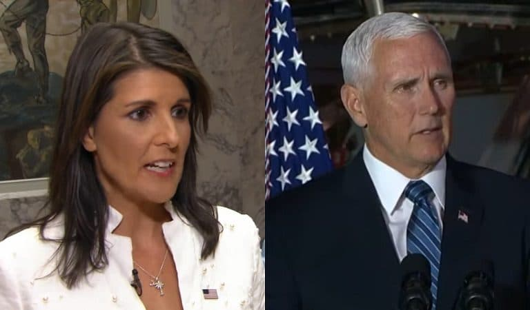 """White House Upset With Nikki Haley For Commenting On VP Rumors: """"I Think Mike Pence Has Been An Outstanding VP"""""""