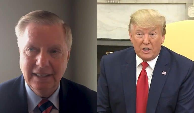 Report Suggests Trump And Lindsey Graham Had A Phone Call Where POTUS Appeared To Be Upset Over Impeachment