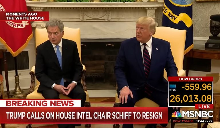 Watch As Finland's President Swats Trump's Hand Away From His Leg During Oval Office Meeting