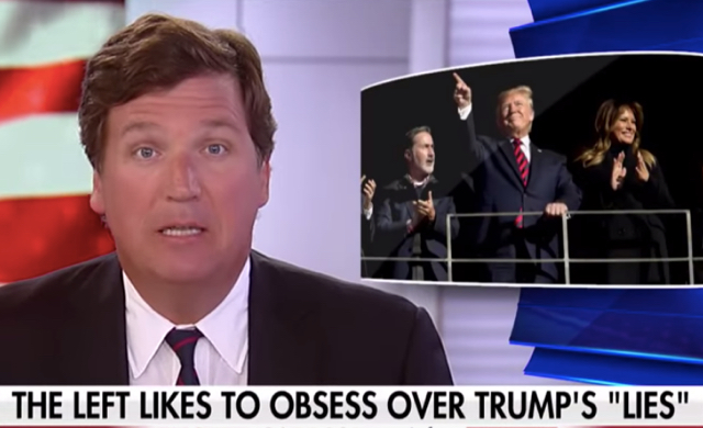"""Tucker Carlson Attempts To Defend Trump By Admitting POTUS Is A """"Full-Blown BS Artist"""" And A Liar, But That's Just Who He Is"""