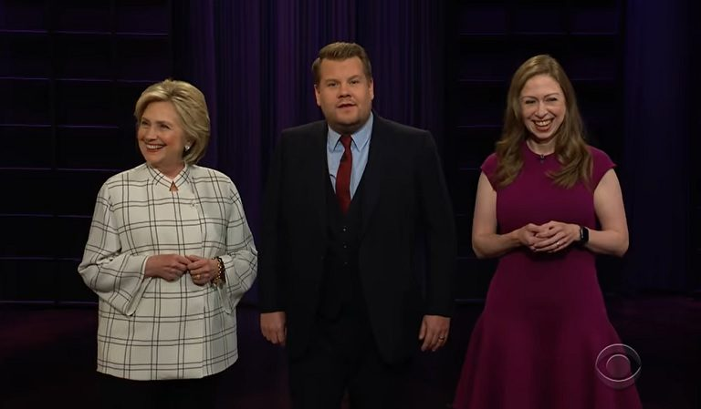 Watch Hillary Clinton Troll Trump During Opening Monologue Of James Corden's Show