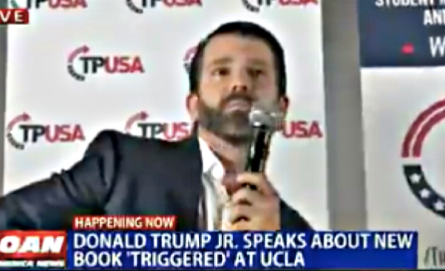 Watch As Trump Jr. Gets Booed And Heckled By His Supporters At Book Launch Event