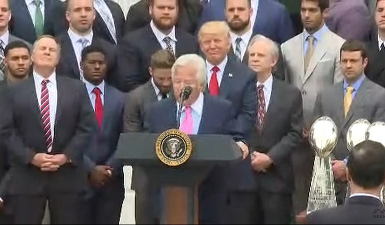 """Listen To Newly Uncovered Audio Of Patriots Owner Robert Kraft Calling Trump """"Divisive And Horrible"""" During Meeting"""