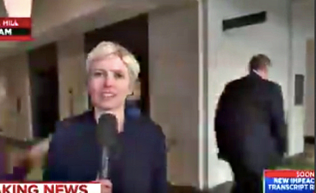 Watch As Republican Mark Meadows Walks Past Reporter Who Asks Him A Question, But Comes Back To Interrupt Her In Order To Defend Trump