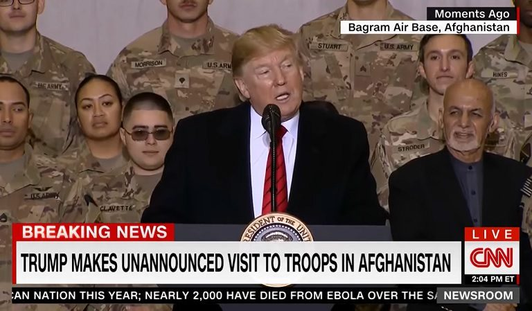 Trump Appeared To Praise Himself During Speech To Soldiers On His Surprise Visit To Afghanistan