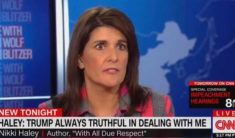 """CNN Host Calls Out Nikki Haley Over Her Defense Of Trump By Playing Clips Of Her """"Trashing"""" POTUS During Live Segment"""