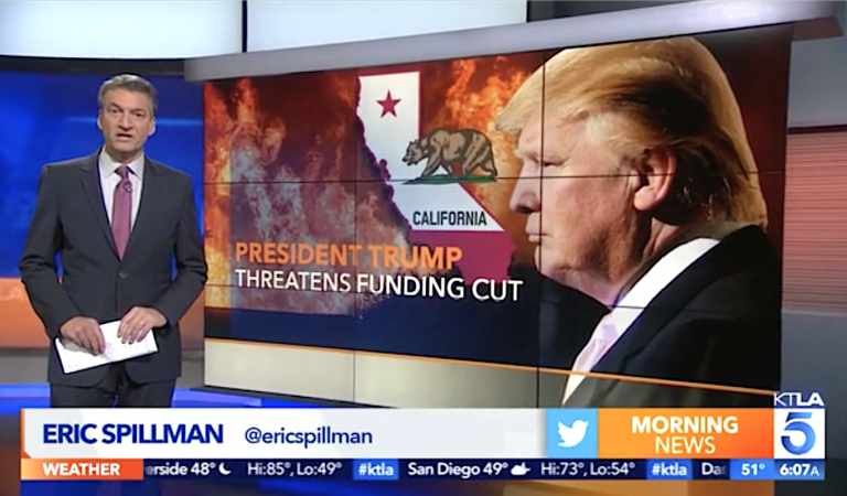 Trump Gets Fact Checked By Local CA News Anchor After Blaming Fires On The State