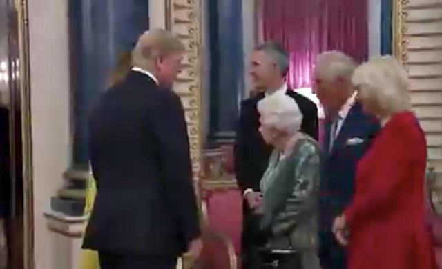 Watch The Queen Appear To Chastise Princess Anne For Not Greeting Trump
