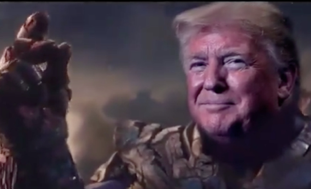 "Trump's Campaign Just Released Video Of Him As Thanos, A Villain Who Commits Genocide In The ""Avengers"" Movies And People Are Confused"
