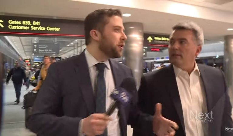 Watch As Republican Senator Refuses To Answer Reporter's Question About Impeachment Witnesses As He's Cornered At The Airport