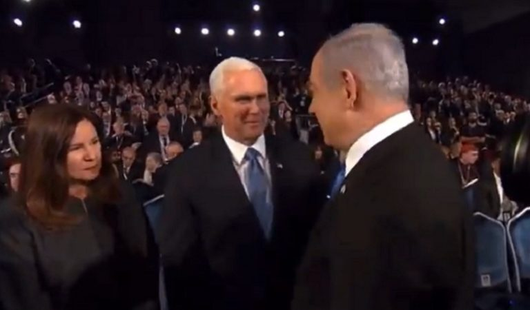 Pence Was Caught On Hot Mic Joking About Impeachment With Israeli PM