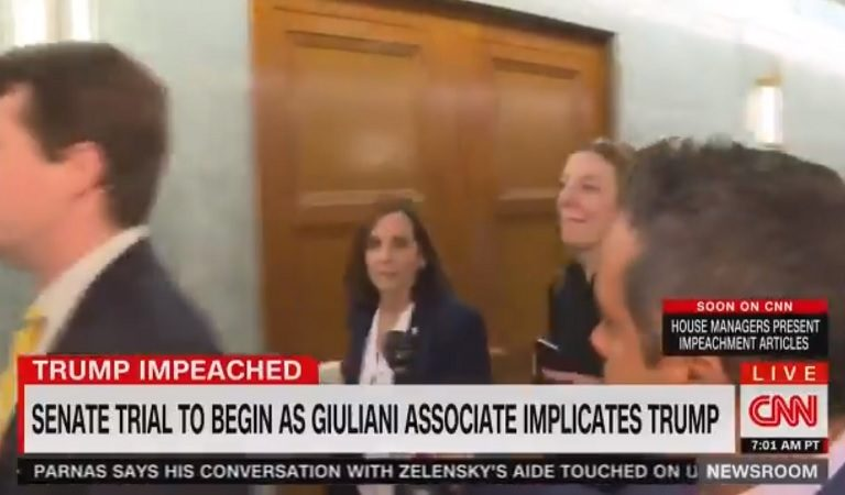 """Watch As Republican Senator Angrily Calls Reporter """"A Liberal Hack"""" For Asking Question About Impeachment Trial"""