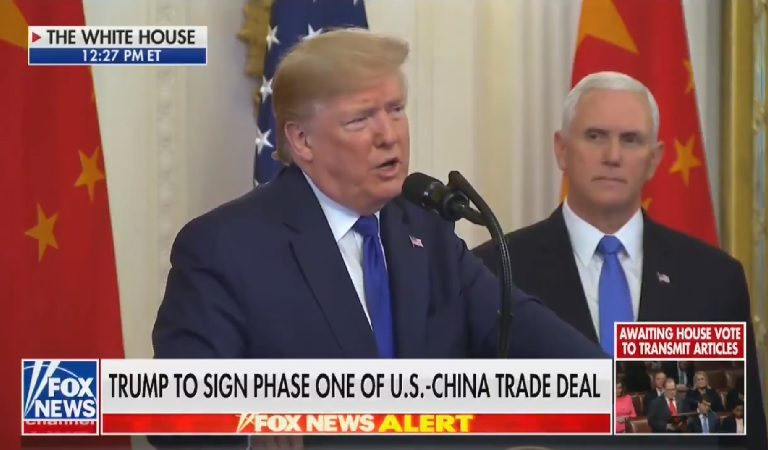 "Fox News Appears To Cut Away From Trump During China Trade Deal Briefing When He Goes After ""Crying Chuck Schumer"""