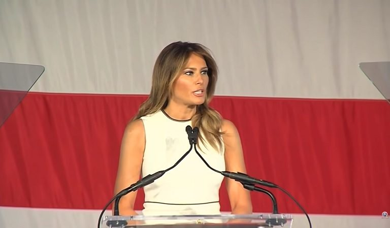 Melania Appears To Have Trouble Reading Teleprompter During Speech For Women Of Distinction Award