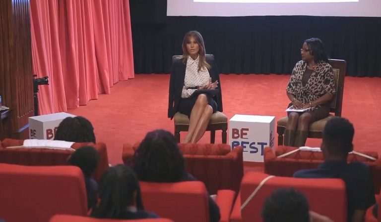 """People Respond To Melania's Post On Twitter Bragging About Watching A Movie With Black Children: """"You're Married To A White Supremacist"""""""
