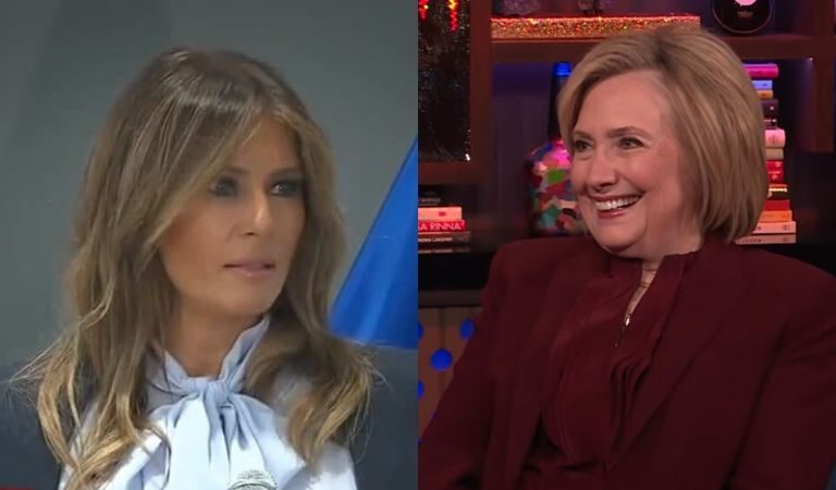 """Hillary Seemed To Throw Shade At Melania's """"Be Best"""" Campaign: """"She Should Look Closer To Home"""""""