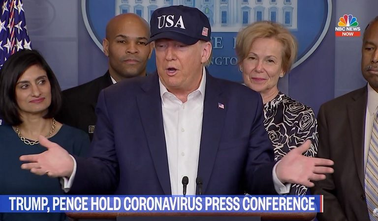 Trump Said During Press Conference For Pandemic That His Temperature Was Taken Before Entering The Room, Then Offers To Compare His To Reporters'