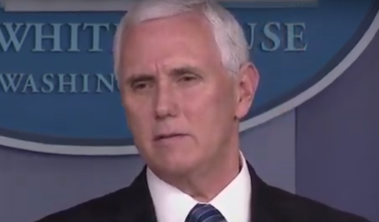 Pence Solicits Church Donations During COVID-19 Press Briefing