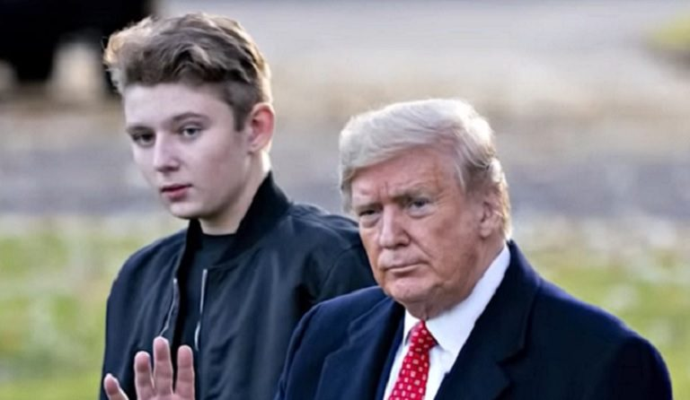Trump Seemed To Make A Super Awkward Comment About Including Son Barron As Part Of His Family