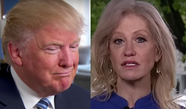 """Trump Took A Cheap Shot At Kellyanne And Her Marriage During Rant Against """"Loser"""" Republicans"""
