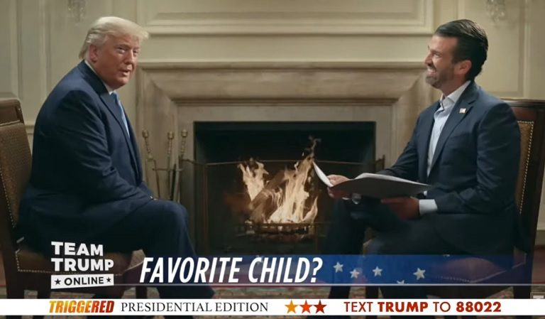 "Watch As Don Jr. Asks His Father ""Which Is Your Favorite Trump Child And Why Is It Ivanka?"""