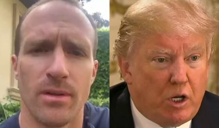 """NFL Quarterback Drew Brees Directly Calls Out Trump Over Systematic Racism, Says """"We Must Stop Talking About The Flag"""""""