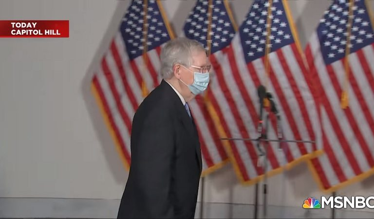 People Burst Into Laughter After Sen. McConnell Seemingly Forgot He Is Not The Majority Leader Anymore, Got Cut Off To The Podium By His Democratic Replacement