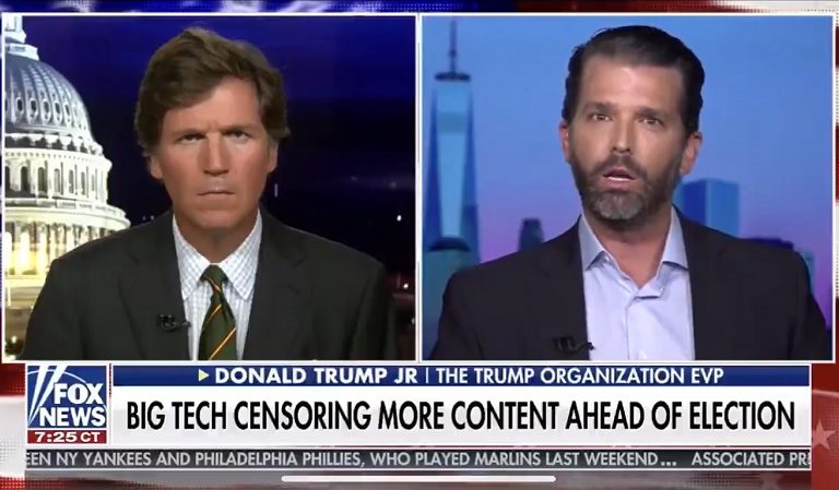 A Seemingly Distressed Don Jr. Made An Appearance On Tucker Carlson After Getting In Trouble With Twitter; Tantrum Ensued