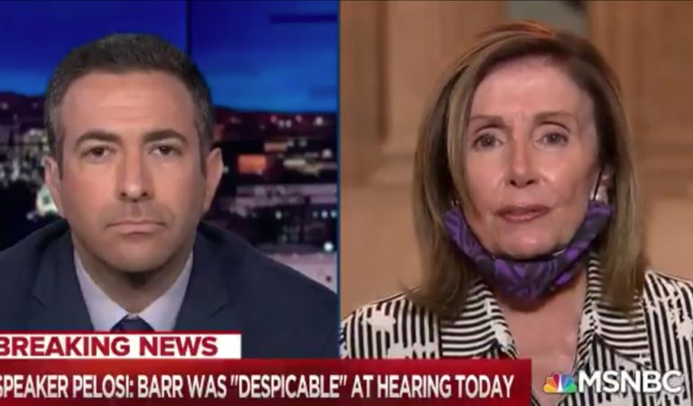 """Nancy Pelosi Responds To """"Despicable"""" Bill Barr's Congressional Testimony, Likens Him To A """"Blob"""" Who Acts a More Like """"A Henchman For Trump Than Attorney General"""""""