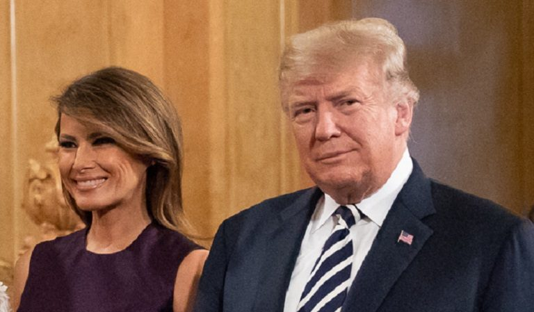 Trump Walked To Podium For A Speech, Seemed To Walk Funny, Then Apparently Needed Melania For Balance