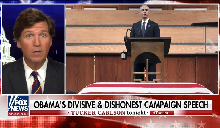 "Tucker Carlson On Obama's Eulogy At John Lewis' Funeral: ""Imagine If Some Greasy Politician Showed Up At Your Loved One's Funeral…"""