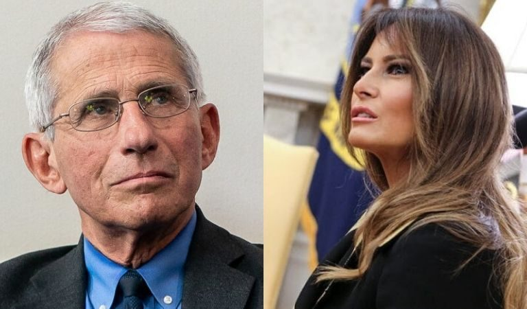 Melania's Supporters Seem Livid That Dr. Fauci Landed Major Cover Of Magazine Before The First Lady