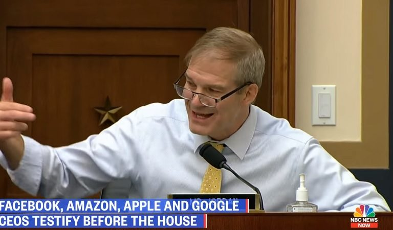 """Lawmakers Get Into Shouting Match With Jim Jordan After He Throws A Temper Tantrum During Big Tech Hearing: """"Put Your Mask On!"""""""