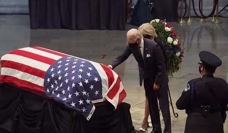 After Trump Declared He Would Not Be Visiting The Capitol To Pay His Respects To John Lewis, Biden Arrives To Show Trump What A True Leader Looks Like