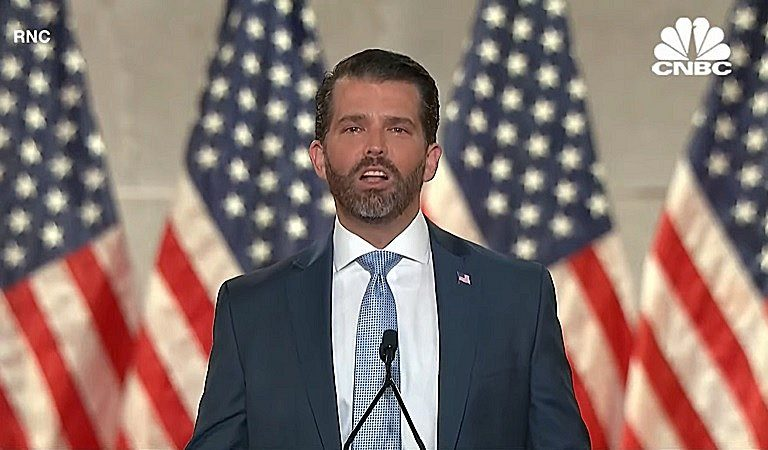 "Social Media Reacts To Don Jr. Speech At The RNC: ""I Am Surprised, Honestly, That They Let Him Out There In This Condition"""