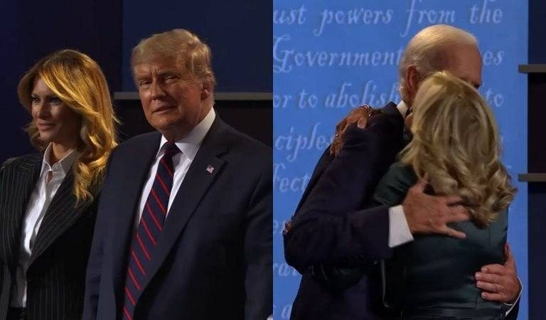 """Americans Notice The Difference Between How Trump and Biden Greeted Their Spouses Post-Debate: """"Business As Usual Vs Love"""""""