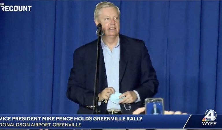 "Social Media Thinks Lindsey Graham Sounds Drunk During His Latest Campaign Rally: ""Yep Hammered"""