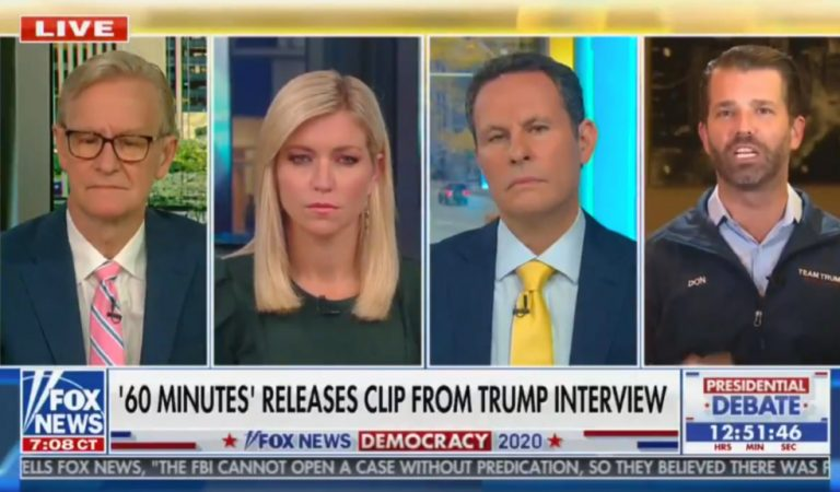 Don Jr. Has Temper Tantrum On Live Television, Kills Irony During Fox News Segment