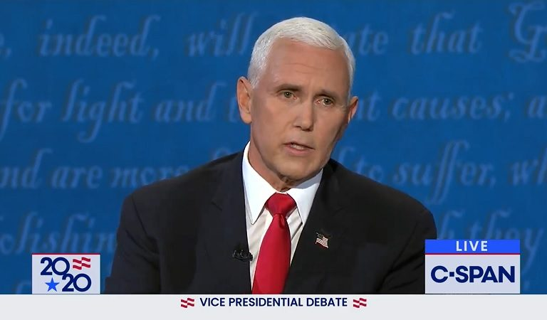 "Social Media Thinks Mike Pence Looks Ill On The Debate Stage: ""He's Breathing Hard"""