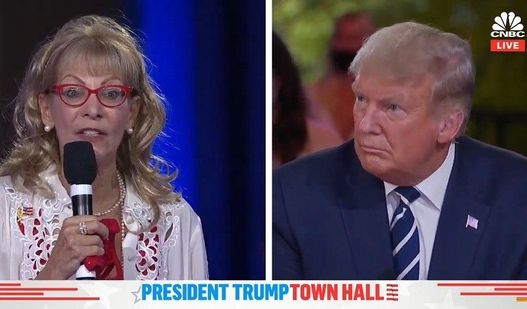 """Americans Recoil In Horror After Woman At Town Hall Tells Trump How Handsome He Is When He Smiles: """"Lady With The Worst F*cking Taste In History"""""""