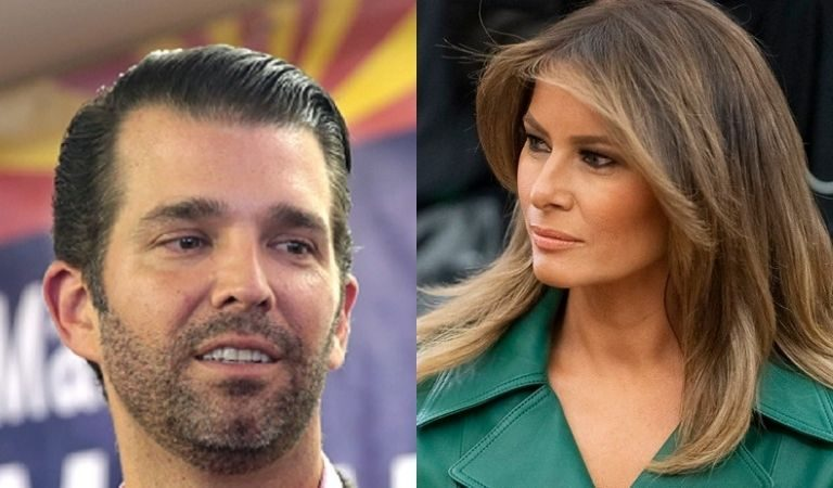 Melania Once Claimed Barron Was Off Limits, But Don Jr. Used His Half-Brother To Attack Biden