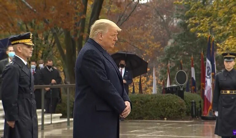 """Social Media Has Thoughts On Trump's """"Fidgety"""" Body Language During Arlington Ceremony: """"It's How Every 5-Year-Old Sways When Having To Control Their Impulse For 3 Minutes"""""""