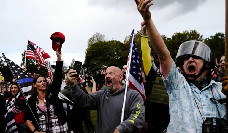 "Proud Boys Claimed They Have Had A Member ""At The White House For Four Years"""