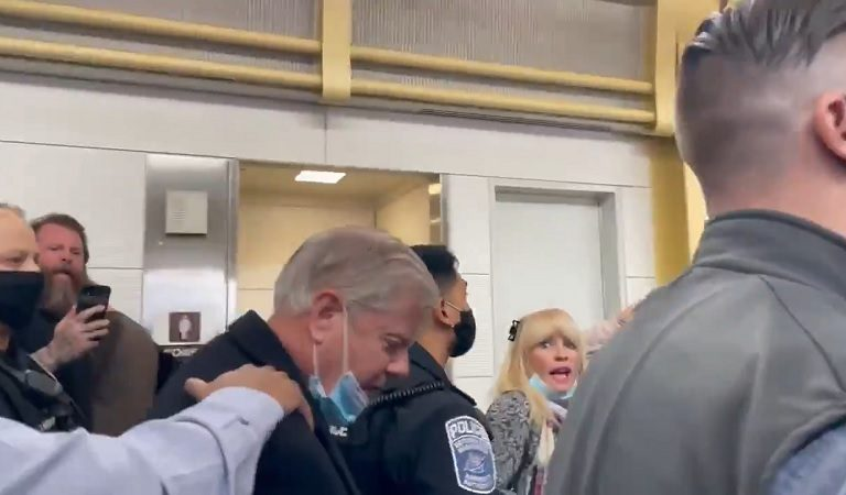 Watch As Lindsey Graham Gets Mobbed By Trump Supporters At Airport